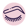 eye lash icon pink