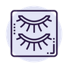 eyelashes icon blue