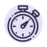 timer icon blue
