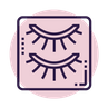 eyelashes icon pink