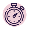 timer icon pink